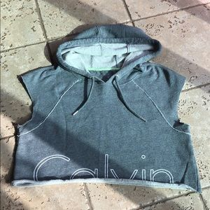 Calvin Klein crop performance sweatshirt NWOT